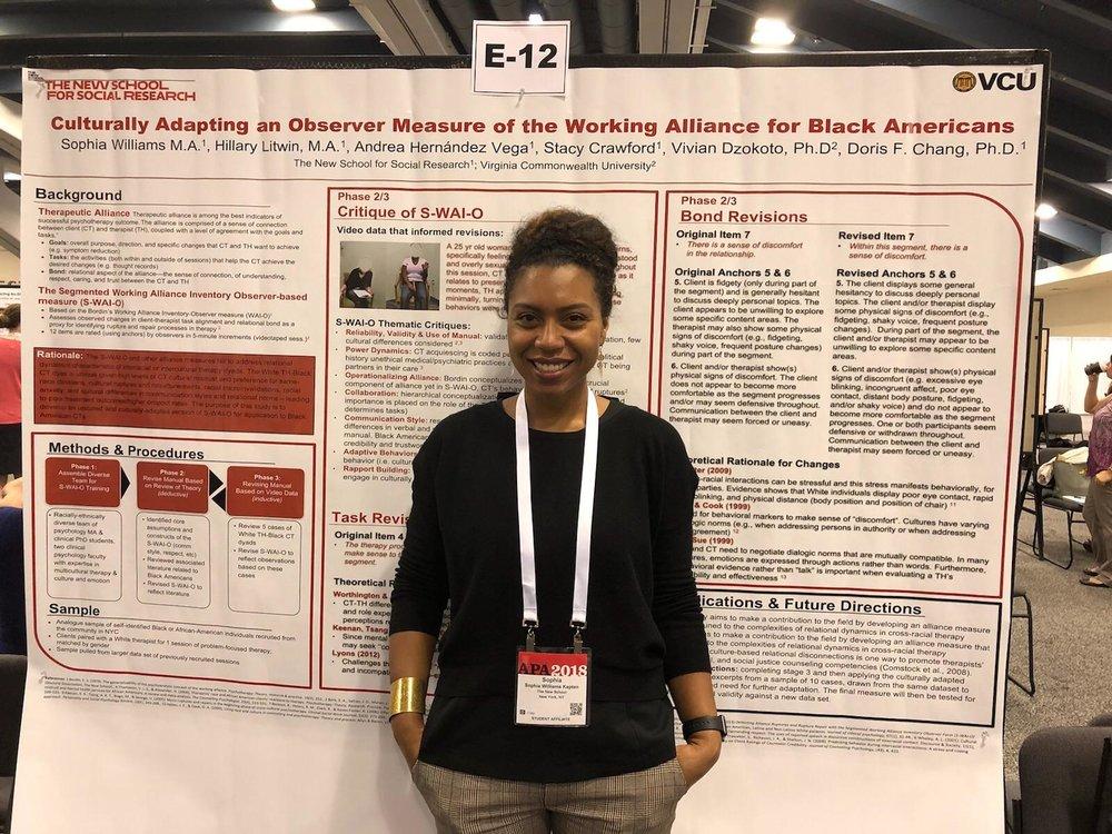 Sophia Williams, MA - Poster Presentation
