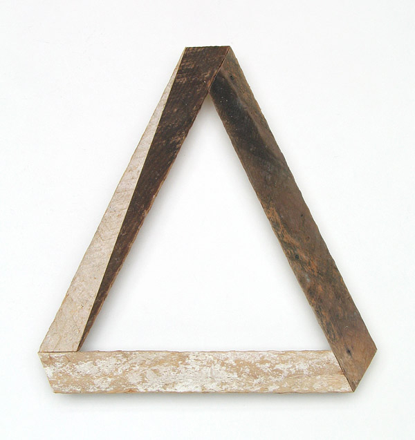 'split' 14x13, salvaged wood. 2011