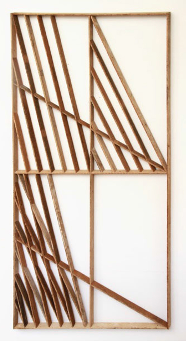 "'shadeshape 3' 67"" x 34"", salvaged wood. 2012"