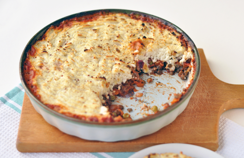 Summer shepherd's pie...lightened up! — Including Cake