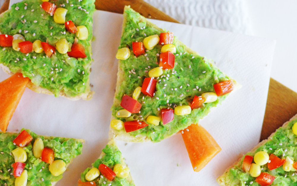 Christmas tree flatbreads