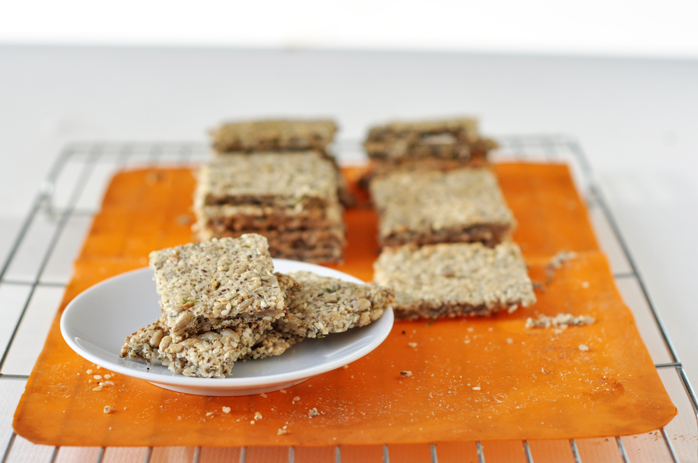 These were some similar crackers using almond, sunflower, sesame and chia.