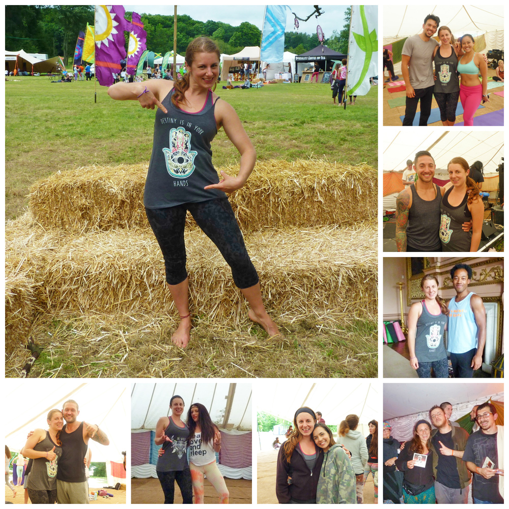 The epic teachers whose classes I attended... including (top right anti-clockwise) Jake & Chetana- acro yoga, Dylan Werner - yoga therapeutics, Luis Valentine- Jivamukti, 47 Soul- awesome musicians, Celeste Periera- Vinyasa flow, Charlotte Welfare- Boom Shanti, Brett Moran- yogi and inspiring speaker.