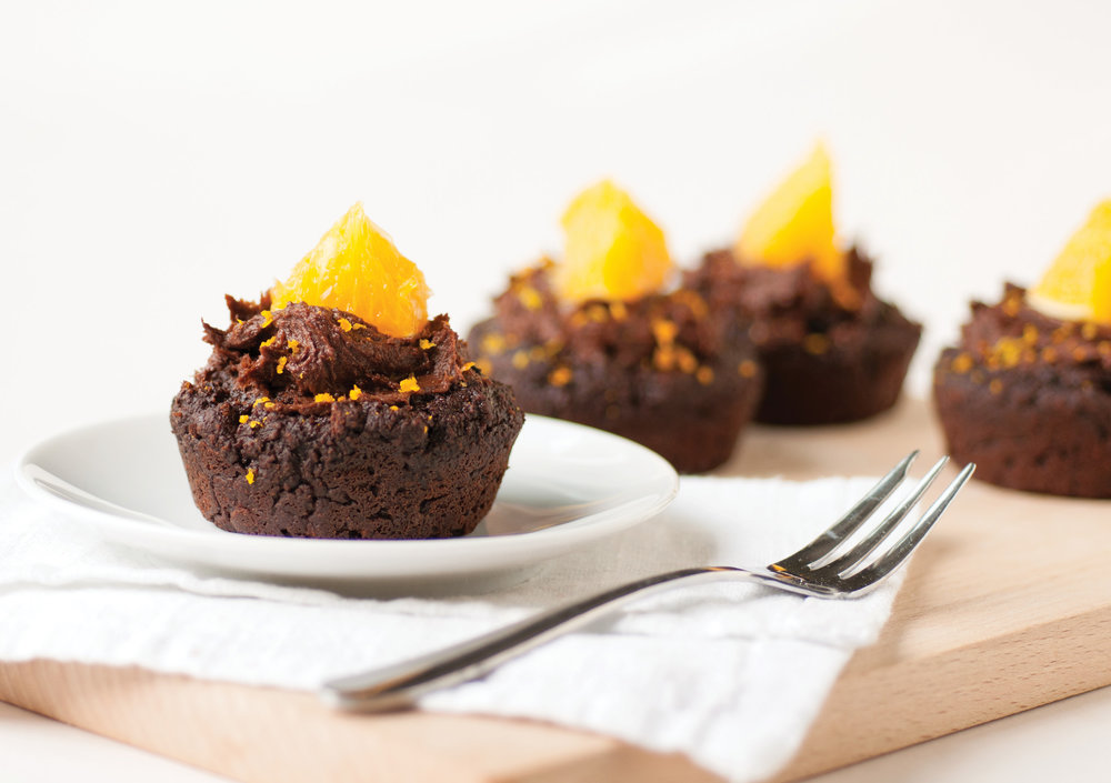 vegan chocolate orange mufffins