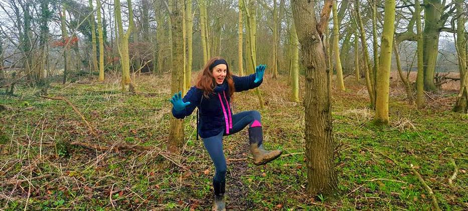 (I have actually have no idea why I am striking this ridiculous pose whilst out for a walk in the woods!)