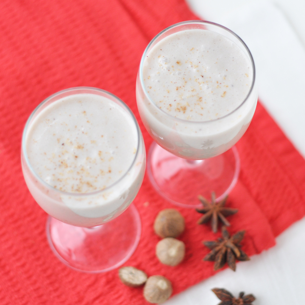 egg nog smoothie