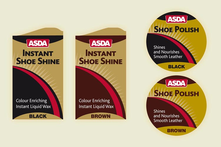 ASDA Shoe Polish Packaging