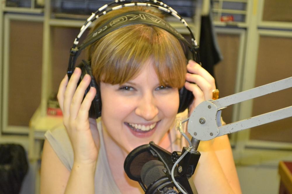 Ellie at RTHK Radio 3 studios