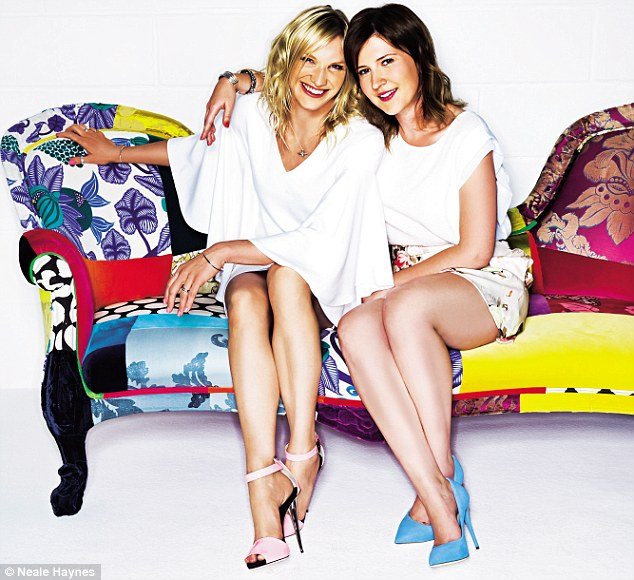 Daily Mail: Jo Whiley + Ellie Davis