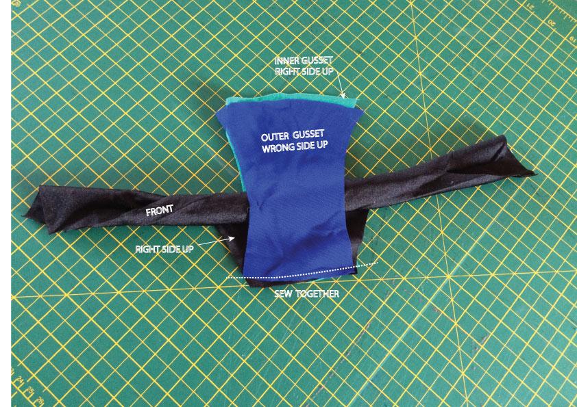 How to sew a hidden gusset