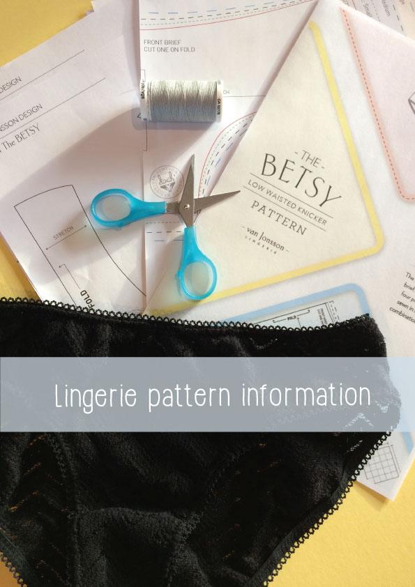lingerie pattern information