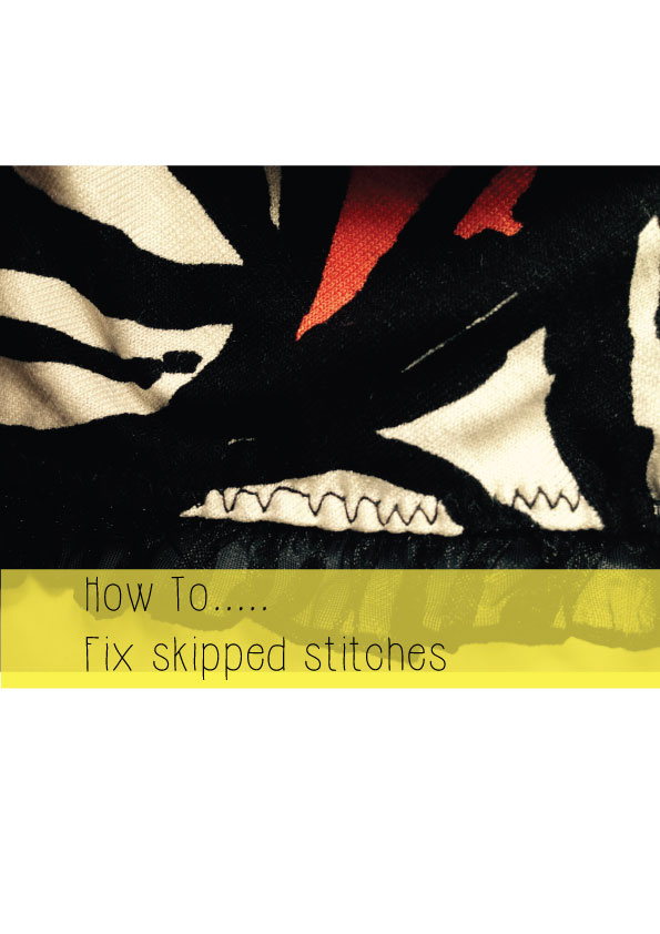 how to fix skipped stitches