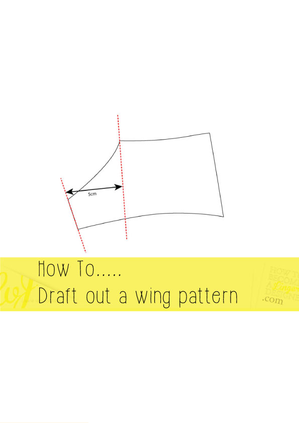 how to draft out a wing pattern