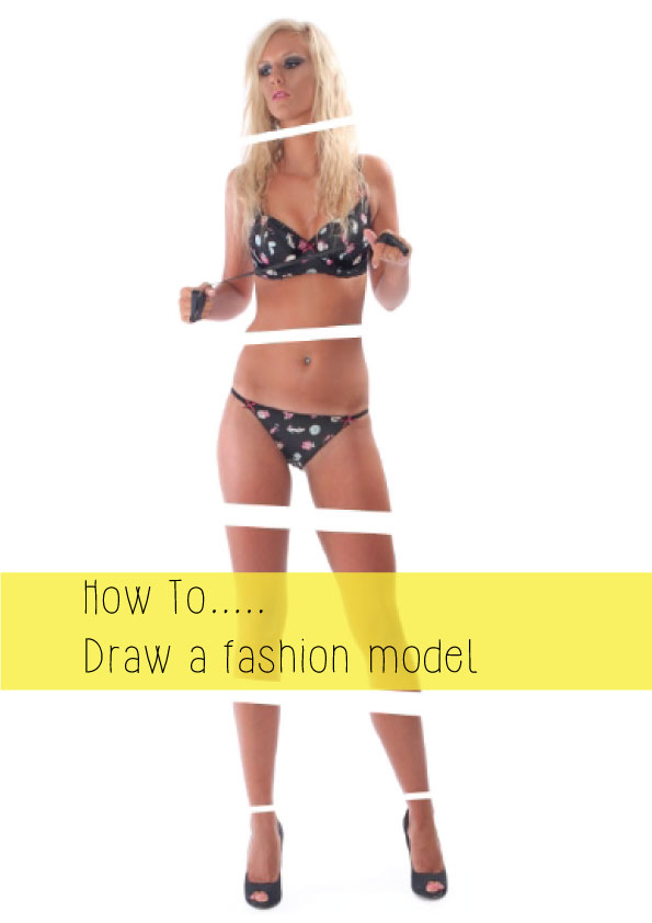 how to draw a fashion model