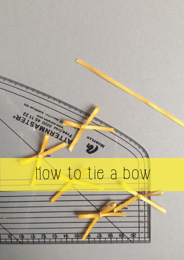 how to tie a bow for lingerie