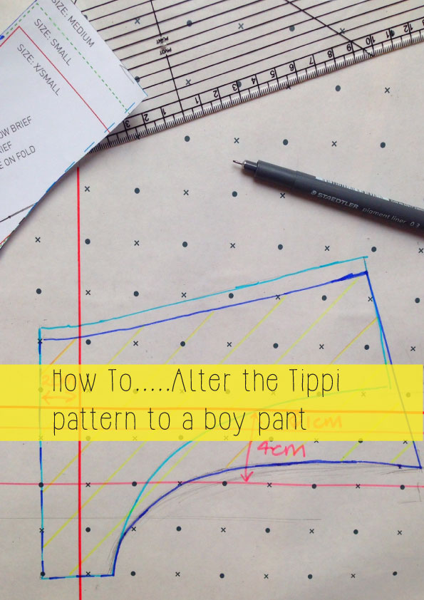 altering a brief to a boy pant