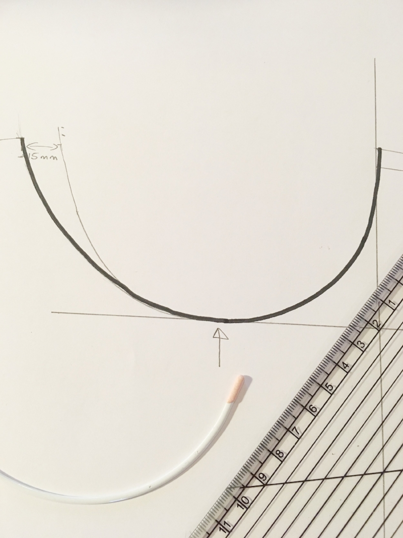 Drafting out a cradle pattern from an underwire