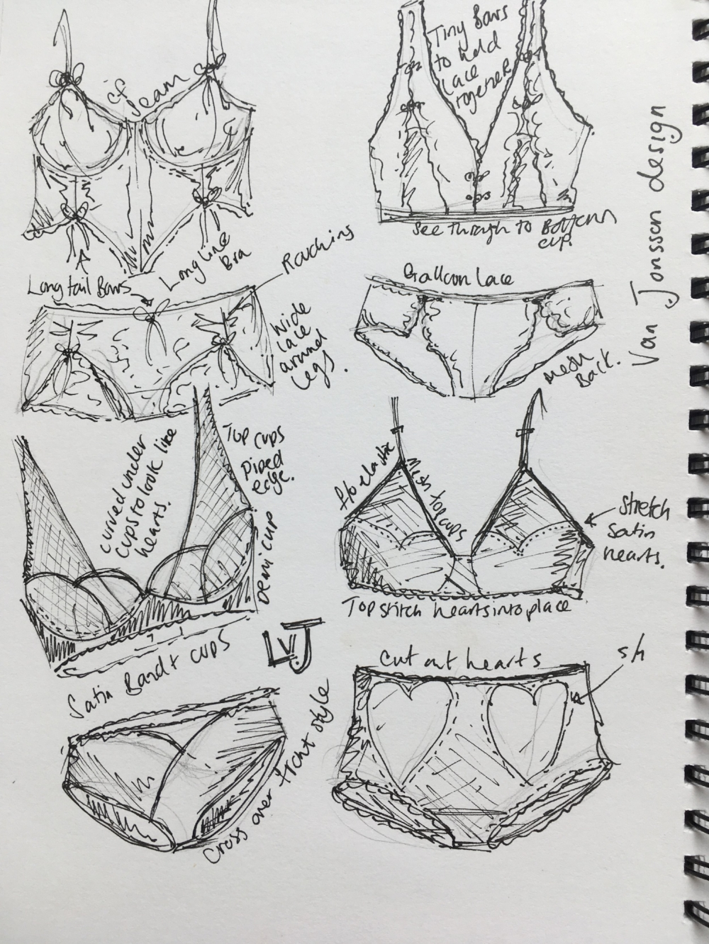 - Lingerie Sketches