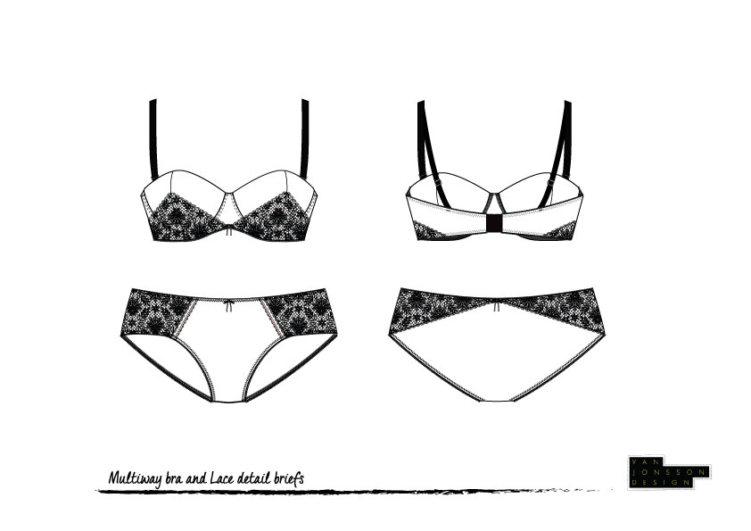 technical drawing lingerie