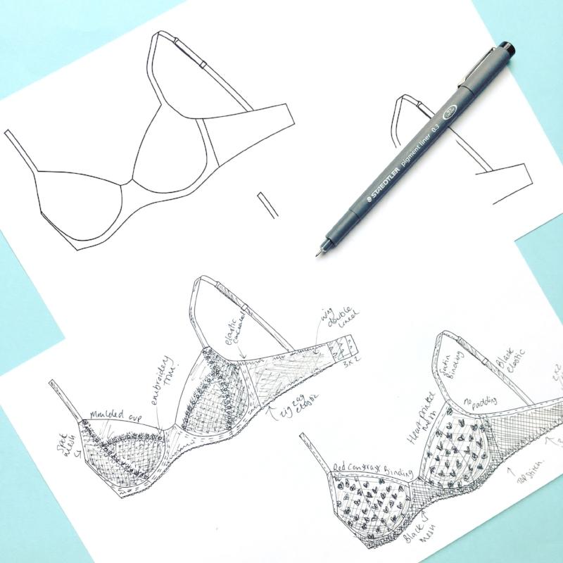 Lingerie drawings