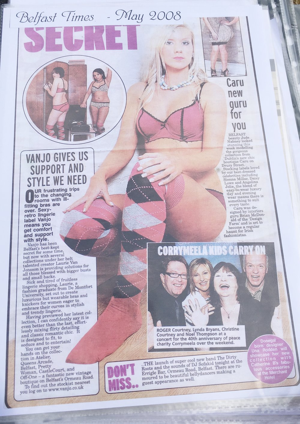 Lingerie designs for Belfast Times