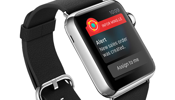 Infor Mingle Application for Apple Watch