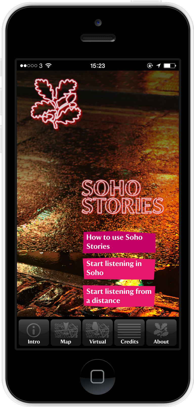 'Soho Stories' app - for National Trust