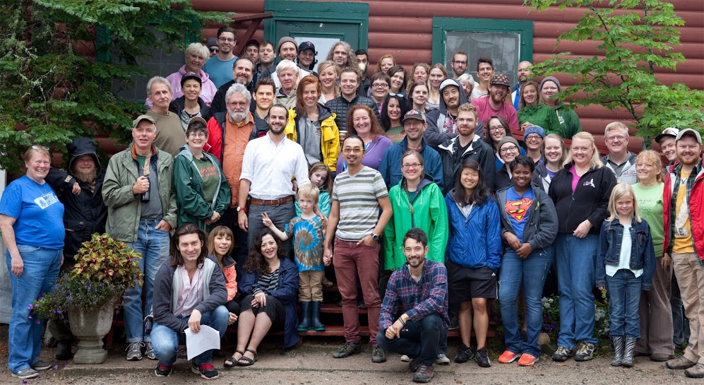 The VLM staff and The Blood Stripe cast and crew in front of the Dining Hall. Click here to see the film's Facebook page!