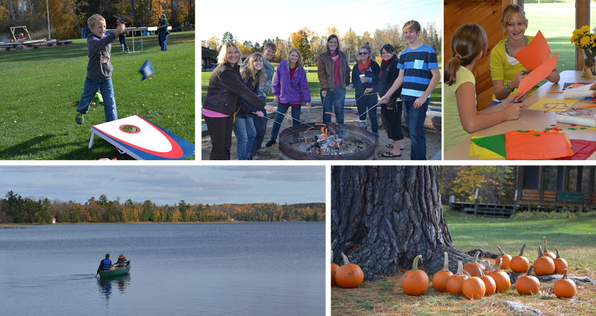 Fall is a spectacular time to be at camp!  Crisp days, calm nights, fabulous colors, and cozy cabins.  Come enjoy a day of fun in God's great northwoods.