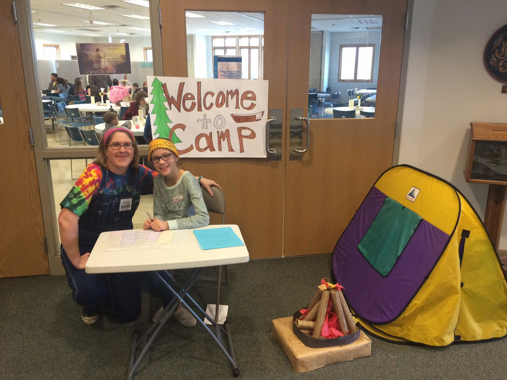 "Grace in Hermantown - ""An Hour of Camp"" to raise awareness for camperships. Grace is ""selling stock"" for their congregation to invest in kids."