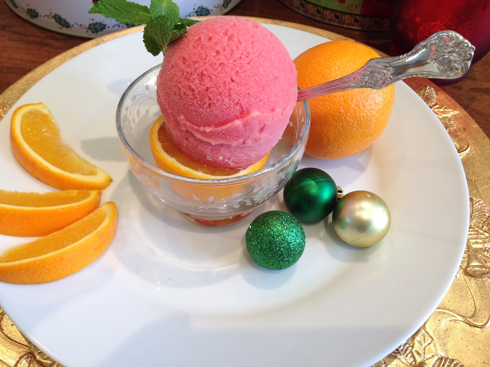Fresh Sicilian Blood Orange Sorbet
