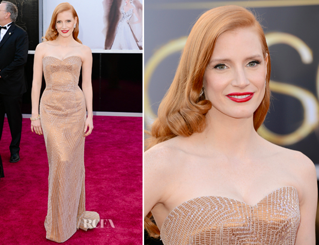 Jessica Chastin Oscars 2013 Dress - Anna Be