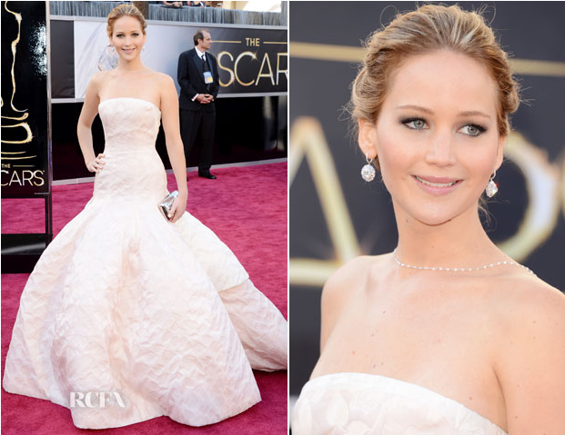 Jennifer Lawrence Oscars 2013 Romantic Dress - Anna Be