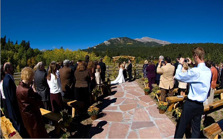 Wild Basin Lodge - Wedding Ceremony in the meadow