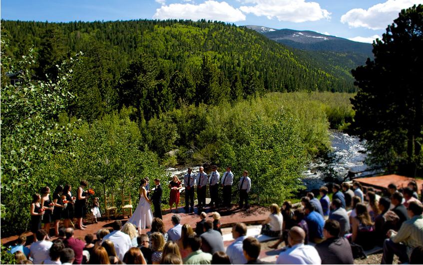 Wild Basin Lodge - Wedding Ceremony by the river Colorado