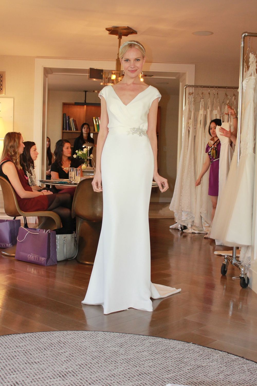 Amy Kuschel Clover Gown at NYC Bridal Market in NYC October 2012