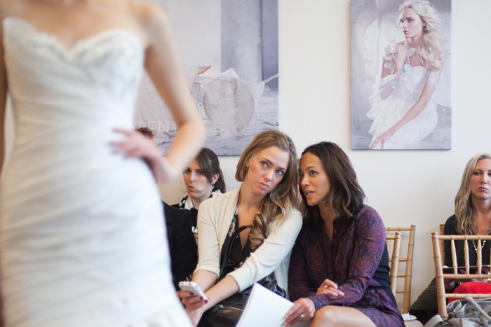 Breanna and Anna discuss an Alvina Valenta gown - Photography by Laura Dombrowski of COUTUREcolorado