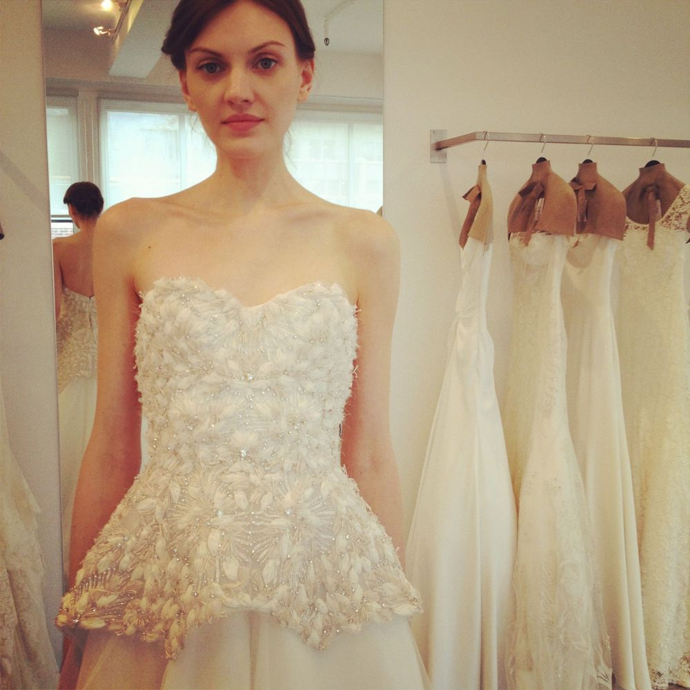 Instagram photo of Lela Rose gown The Plaza at the Lela Rose showroom in NYC