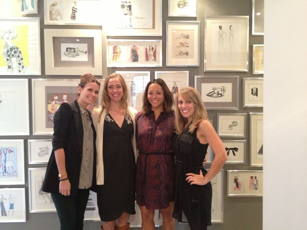 The anna bé team in the awesome entrance way to the Lela Rose showroom in NYC - Photography by Laura Dombrowski of COUTUREcolorado