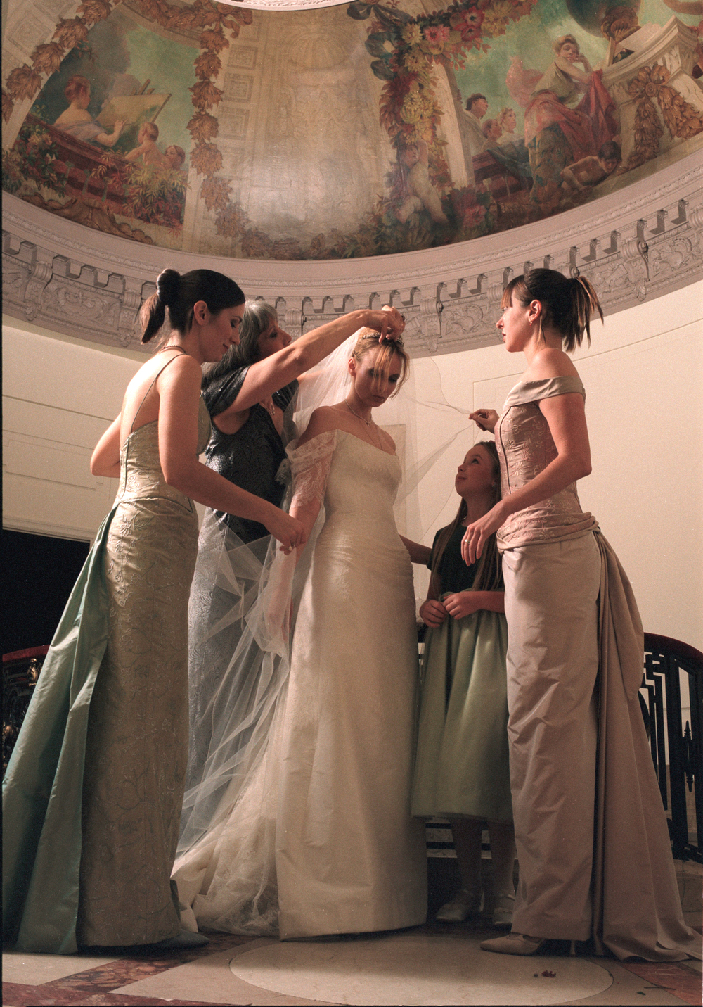 Fillmore's own wedding in 1999. This looks like a painting.