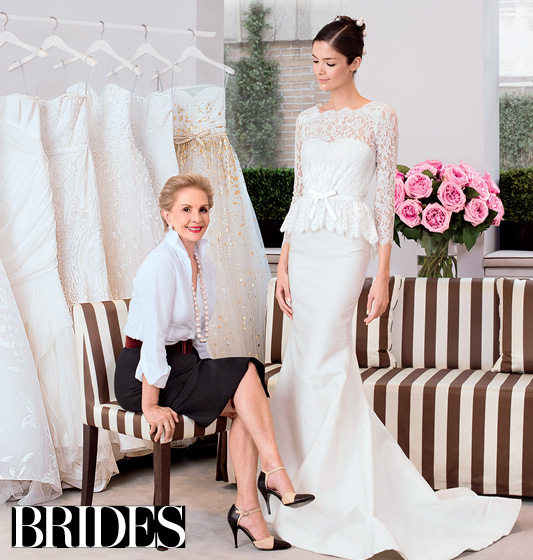 Timeless as ever. The legend sits with her 2014 bridal collection.