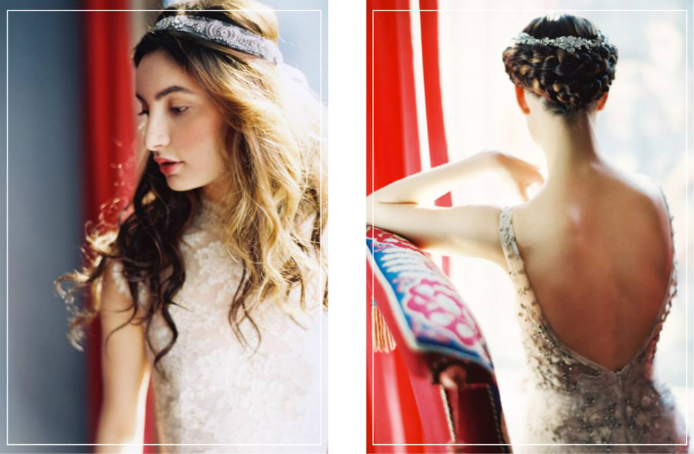 Enchanted Atelier bridal accessories, headpieces, and veils by Liv Hart, romantic heirloom bridal accessories