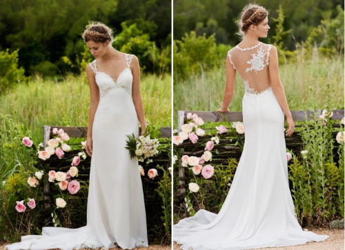 Wedding gowns unique backs bridesmaid dresses for Wedding dresses with interesting backs