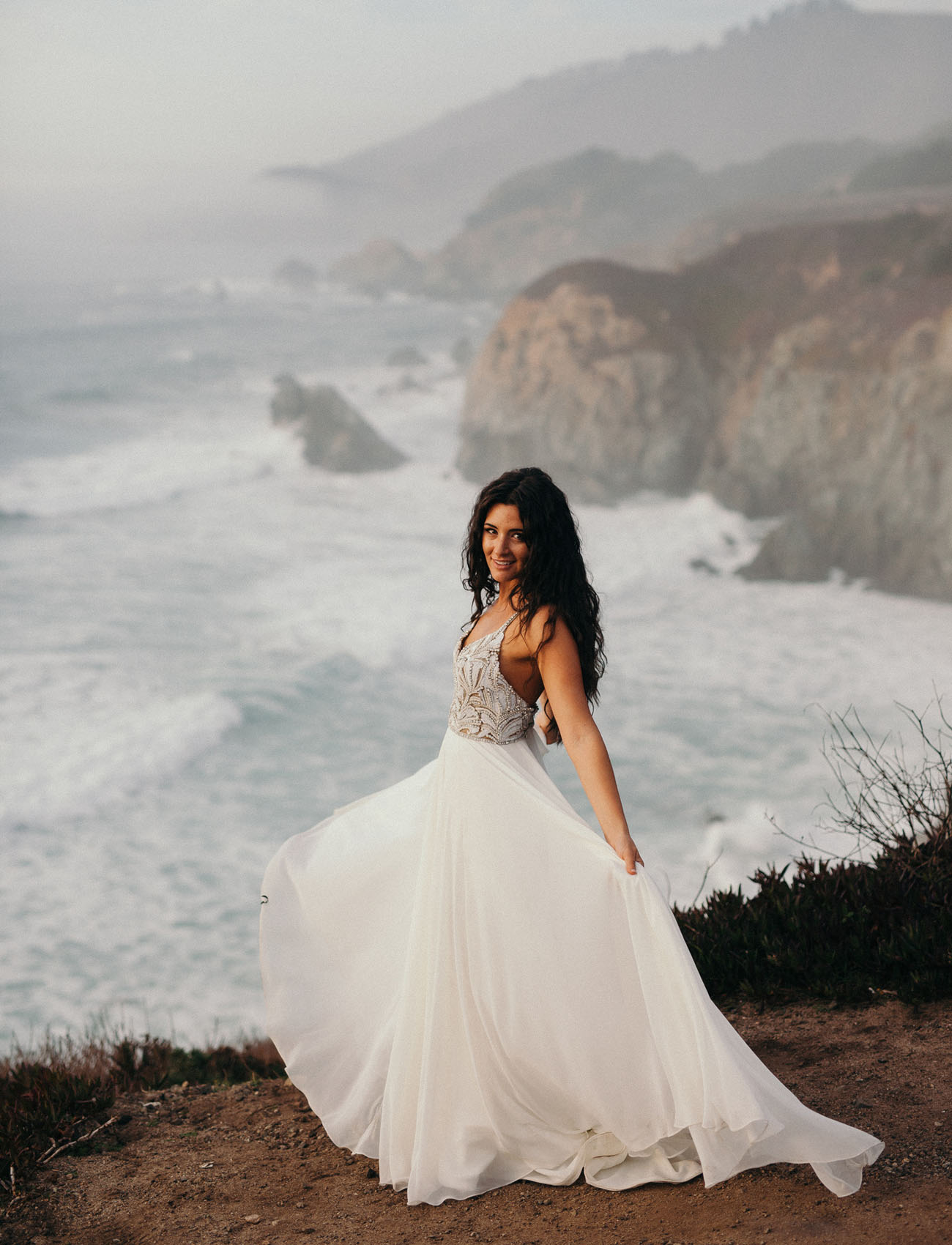 7aa7cf68c6 Real Wedding: Jami + Charlie | Stunning + Intimate Big Sur Beach Wedding|anna  bé Bridal Boutique Denver, CO