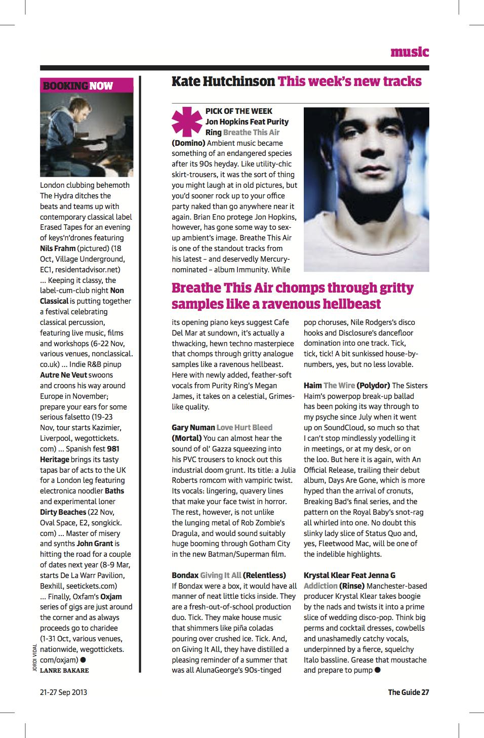 Singles Review Guardian Sep 2013.jpg