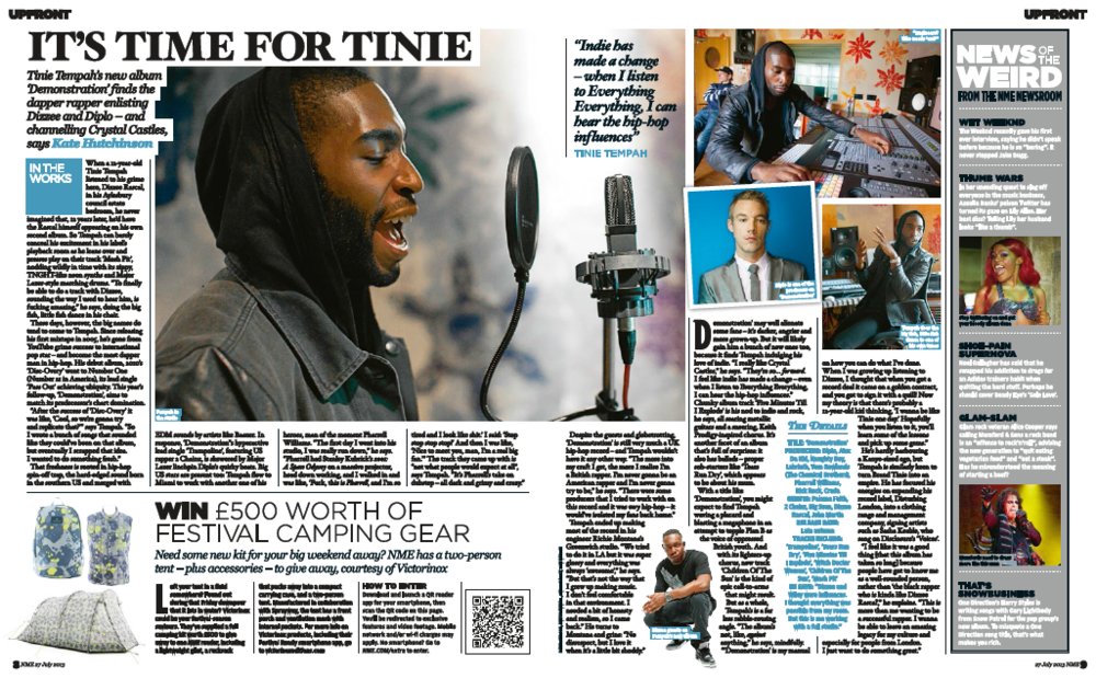 Tinie Tempah – In The Studio – NME