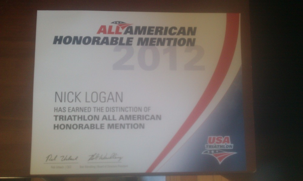 After 9 years of racing I finally made All American! Top 10% in the US in my Age Group