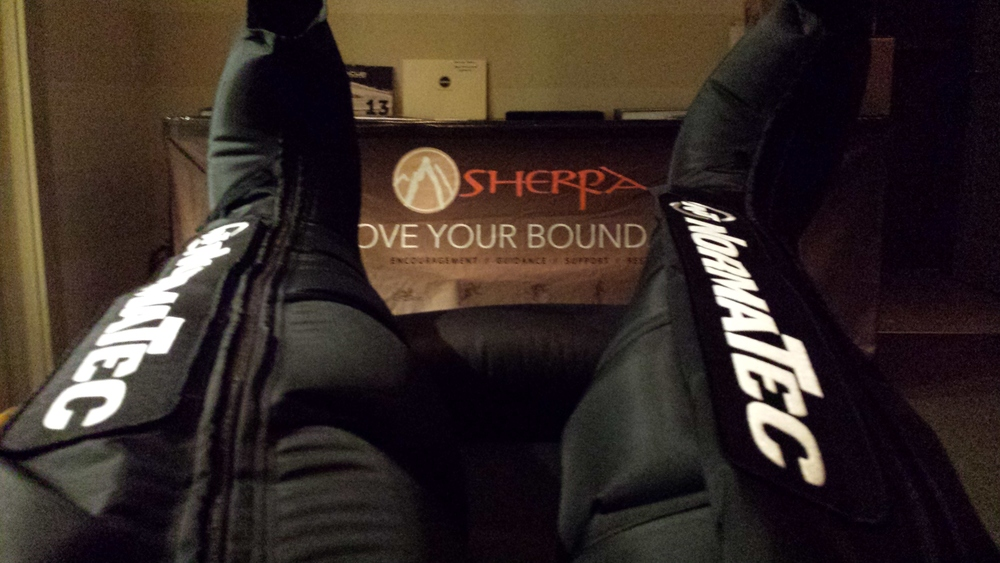 Thanks to Sherpa for letting me use their recovery lounge post race!