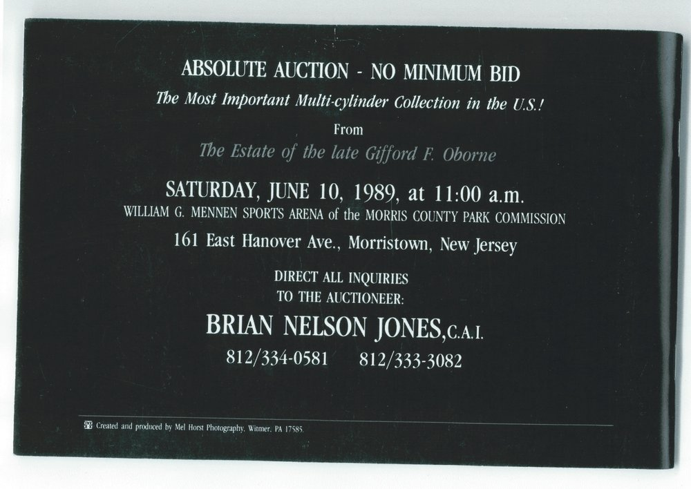 Auction catalogue, 1989