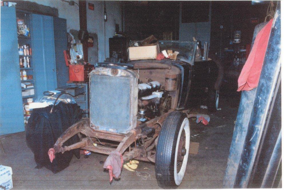 Mid-restoration, circa 1990